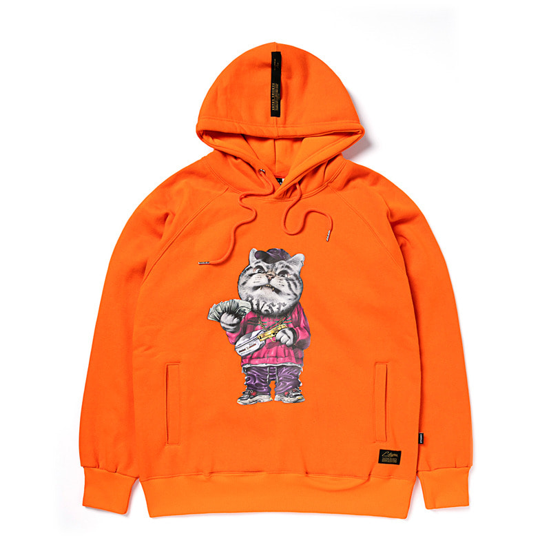 CATSGANG HEAVY SWEAT HOODIE ORANGE